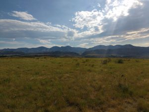 Prairie Landscape with Mountains in Background - Free High Resolution Photo