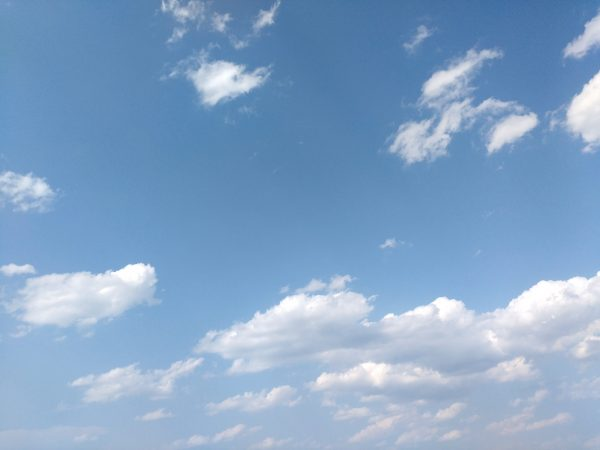 Blue Sky with Clouds Texture - Free High Resolution Photo