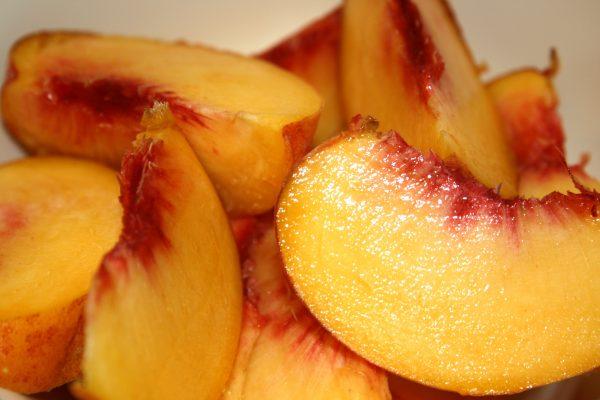 Fresh Peach Slices - Free High Resolution Photo